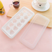 Qearly Lovely Star Shape Rectangular Ice Mould Ice Tray-White