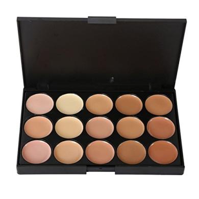Shouhengda Facial Foundation Concealer Cream Palette Powder + Brush Sponge Puff Makeup A02