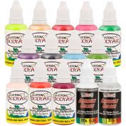 Custom Body Art 14-Bottle 12 Colour Secondary Nail Paint Set