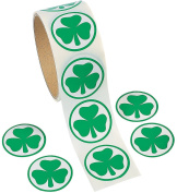 Pack of 100 - St Patricks Day Shamrock Stickers