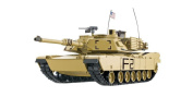 RC Tank M1A2 Abrams 1:16 Heng Long Smoke & Sound + Metal Gears and 2.4GHz