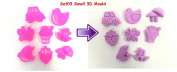 8pcs Small 3D Mould Set (03) for Kinetic Magic Motion Moving Various Sand