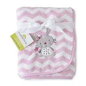 Infant Girl's Fluffy Fleece Blanket - Bella Bunny