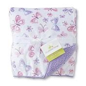 Infant Girl's Plush Blanket - Butterflies