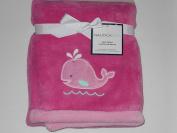 Nautica Kids Plush Blanket Pink Whale