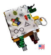 Baby Jack Wizard Magic Educational Sensory Blanket Lovey with Ribbon Tabs HANDMADE IN USA