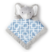 Adorable Levtex Baby Elephant 12x12 Security Blanket For Babies 1-24 Mos.