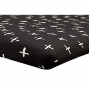 Babyletto Tuxedo Cross Mini Crib Sheet, Black