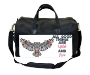 All Good Things Are Wild And Free-Ethnic Style Owl Nappy/Baby Bag