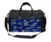 Navy Mermaid Scales Nappy/Baby Bag