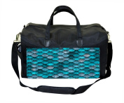 Blue Mermaid Scales Nappy/Baby Bag
