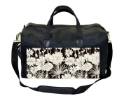 Black and Cream Flowers Nappy/Baby Bag