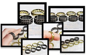 NEW! Clear silicone multi-Ring mould.Faceted size 6,7,8,9,black-7,8,9,10. (Z-04) Free USA shipping!
