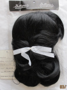 DOLLSPART Craft DOLL Hair WIG Style 01076 Fits SIZE 41cm Colour BLACK 100% Synthetic JAPAN Fibre