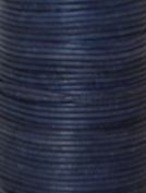 Natural Dye Blue Round Leather Cord 2mm x 50m BEST VALUE!