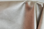 NAT Leathers Gold Pearlized Metallic Soft two Tone Upholstery Cowhide leather 2.5-90ml Crafting Upholstery Calf Genuine Leather Cow Hide Skin (8-1sqm
