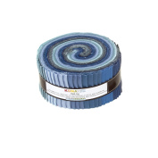 Kaufman Kona Solids Overcast 6.4cm Jelly Roll