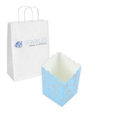 Sparkles Make It Special 100 Turquoise Popcorn Wedding Favour Gift Boxes
