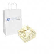 Sparkles Make It Special 100 Ivory Ribbon Wedding Favour Large Gift Boxes