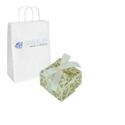 Sparkles Make It Special 100 Ivory Ribbon Wedding Favour Gift Boxes
