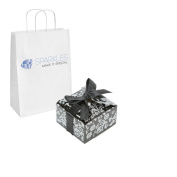 Sparkles Make It Special 100 Black And Silver Ribbon Wedding Favour Gift Boxes