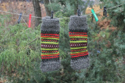 Knitted Leg Warmers With Ornament