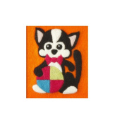 Orcidea ORC.4622 | Felt By Numbers Kitty Children's Felting Kit | 20 x 15cm