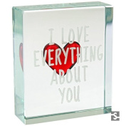 Spaceform Red Heart Everything About You Small Glass Token (1872) by Spaceform