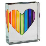 Spaceform Glass Token Rainbow Heart 1954 by Spaceform