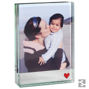 Spaceform Small Photo Frame Mirror Red Heart 1883 by Spaceform