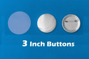 7.6cm Diameter 100 Pack Metal Round Buttons Parts - Metallic Badge Making Supplies