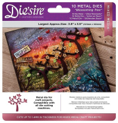 Die'sire Mixed Media Metal Card + Fabric Applique Die Sets - Blossoming Tree