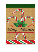 "Magnolia ""Merry Christmas Candy Cane Burlap"" Garden Flag, 33cm x 46cm"