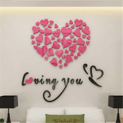 3D Wall Stickers, Fheaven Love Heart DIY Removable Vinyl Decal Art Mural Wall Stickers Home Room Decor