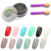 OneDor Rainbow Chrome Shinning Laser Holographic Manicure Pigment Nail Powder