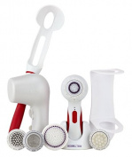 Soniclear Elite DELUXE Antimicrobial Facial Skin Cleansing Brush System, White/Red