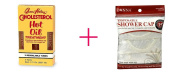 2 of Queen Helene Cholesterol Hot Oil Treatment AND Donna Shower Cap Clear - BUNDLE