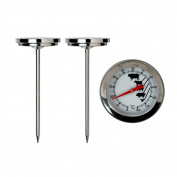 Crazy Gadget Meat Temparature Thermometer Stainless Steel Dial Type for Beef Lamb Pork Poultry Roasts