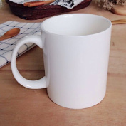 Ceramic Cup.Ceramics.Cup ceramic Pure white ceramic cup bucket cup large ears straight cup milk cup,8.2*9.5cm
