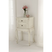 Rattan Antique French Bedside Table