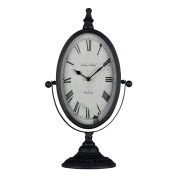 Mantle Clock Antique Metal For Home Office Living