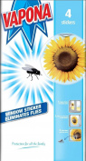 Vapona Fly Killer Trap Window Sticker Original Sunflower Catcher Pack of 4