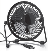 USB Retro Desktop Fan Black
