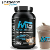 MuscleGenetix 100% Whey Protein Isolate 2g Carbs Chocolate Whipped Cream