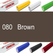 Oracal 631 Sign Vinyl 60cm x 10YD Indoor Wall Graphics Self Adhesive-Backed - Brown
