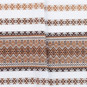 """Mothering Sunday SALE!!! Decorative fabric with Ukrainian ornament Tablecloth Easter plahta ethnic white Beige brown 100x150 cm / 40""""x59"""" EASTER GIFT IDEA"""