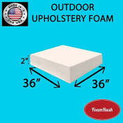FoamRush Premium Quality Dryfast OUTDOOR Anti-Mildew Upholstery Foam Sheet for Outdoor & Marine Furniture (Chair Cushion Foam for Patio Furniture, Wheelchair Seat Cushion Replacement)