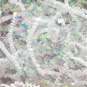 White & Iridescent Metallic Crinkle Cut Blend Fill, 18kg