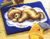 Vervaco 2565/38.012 | Sleeping Teddy On Cloud Rug Latch Hook Kit | 50 x 40cm