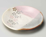 Yoshino Sakura 14.5cm Set of 2 Small Plates Beige Ceramic Made in Japan
